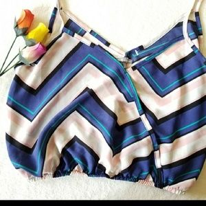 Charlotte Russe Colorful Chevron Crop Top